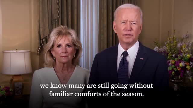 President Biden And First Lady Dr Jill Biden Deliver Happy Easter Message Air Tv